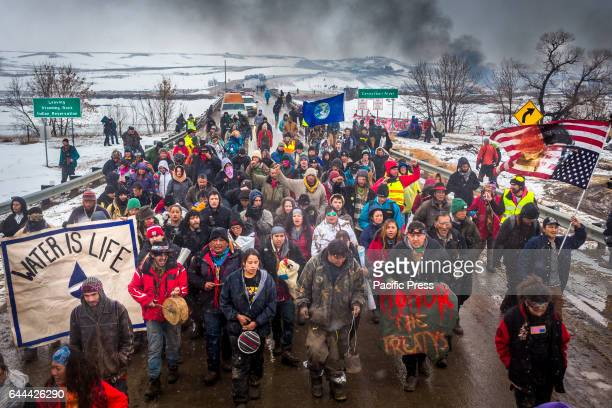 Defiant Dakota Access Pipeline water protectors faced-off with various law enforcement agencies on the day the camp was slated to be raided. Many...