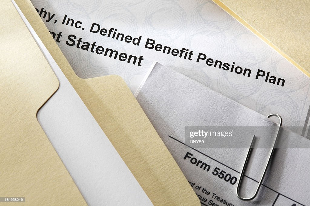 Defined Benefit Plan Documents : Stock Photo
