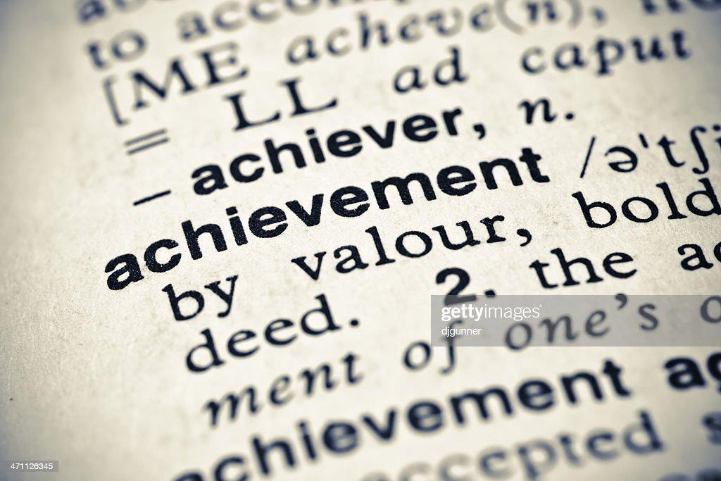 Definition: Achievement : Stock Photo
