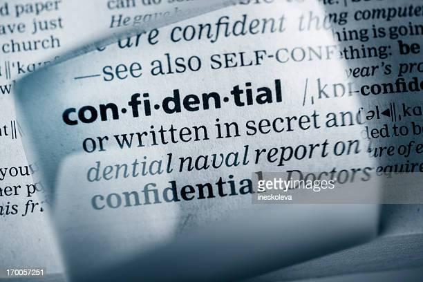 Definition 'confidential'