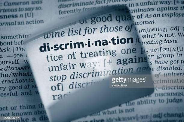"""Definición de la discriminación """"."""