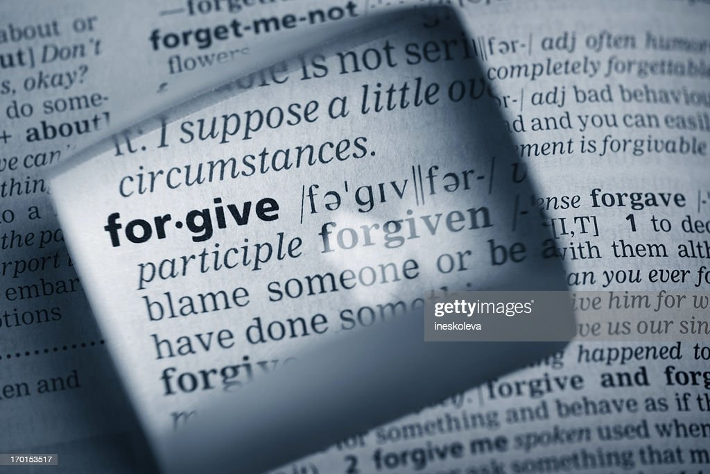 "Definition ""forgive"" : Stock Photo"