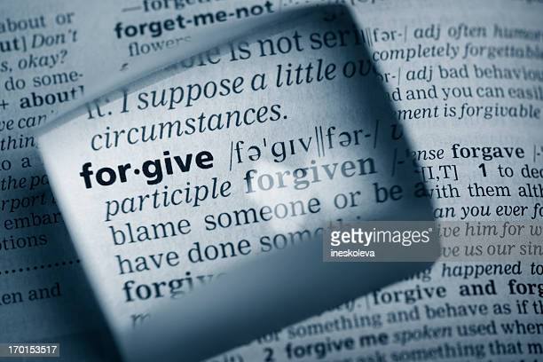 "definition ""forgive"" - forgiveness stock pictures, royalty-free photos & images"