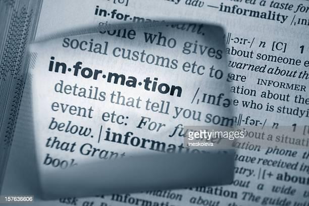 """Definition'Informationen"""",Definición de """"Información"""""""""""