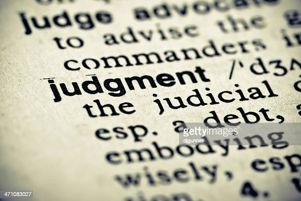 Definition: Judgment