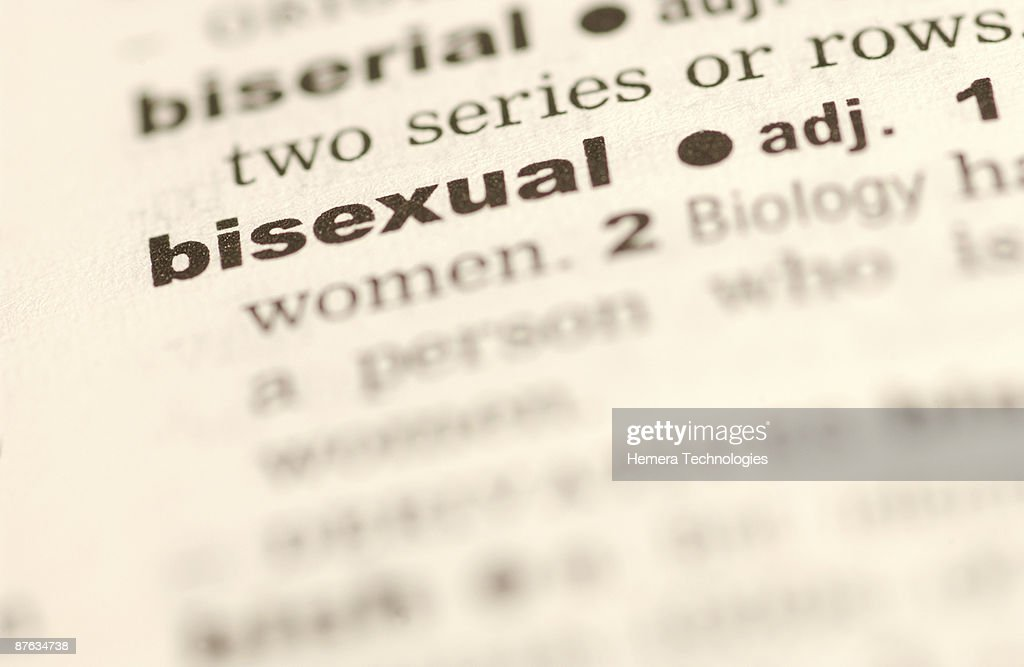 Definition of bisexual : Stock Photo