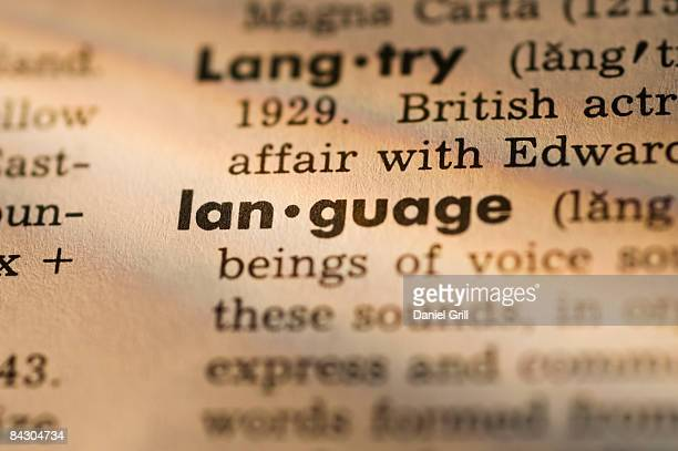 definition of language in dictionary - dictionary stock pictures, royalty-free photos & images