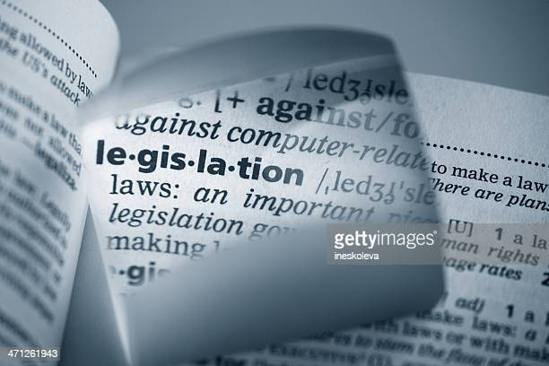 Definition of Legislation amplified with a magnifying glass