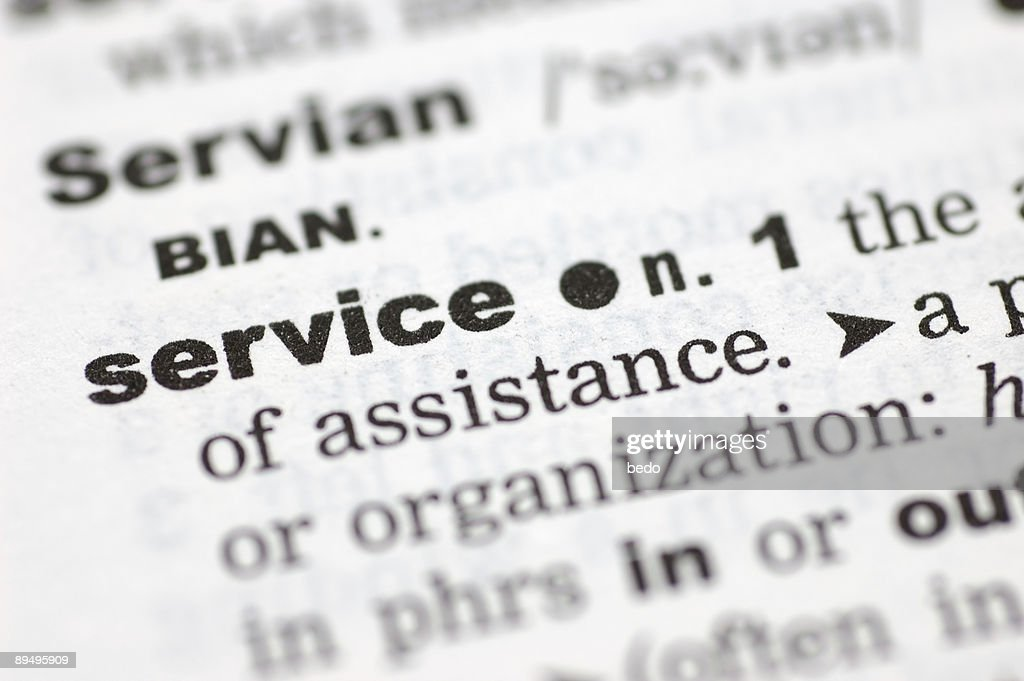 Definition Of Service High Res Stock Photo Getty Images