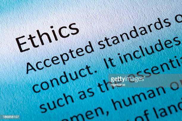 Definition von dem Wort Ethik in der Blauton
