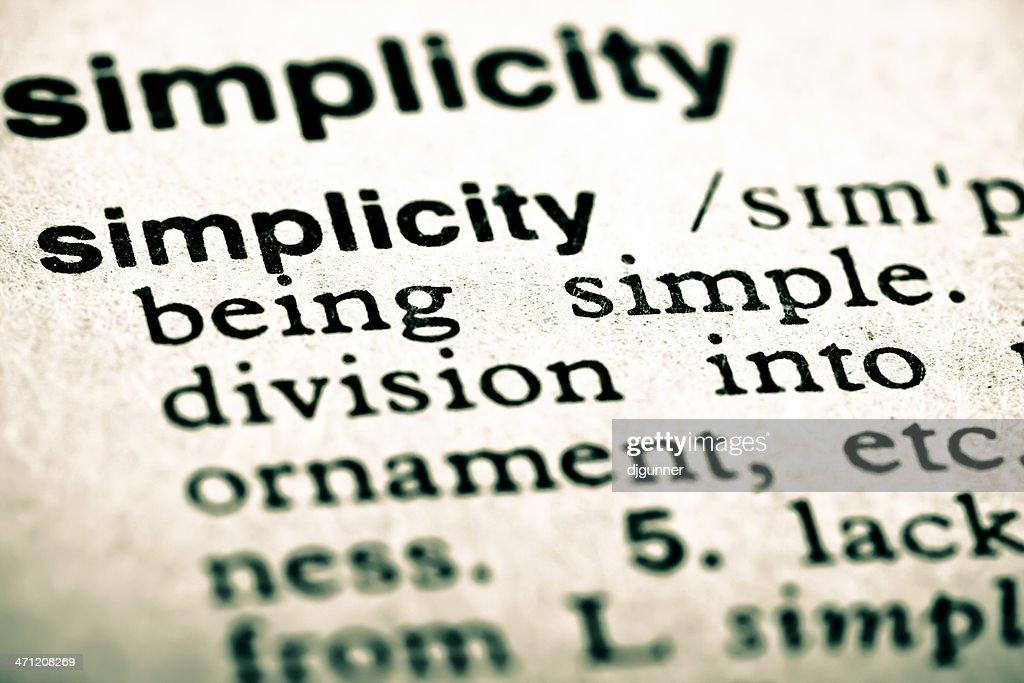 定義:シンプルさ : ストックフォト