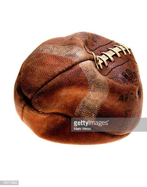 deflated american football ball - old american football stock photos and pictures