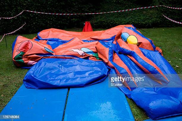Deflated bouncy castle
