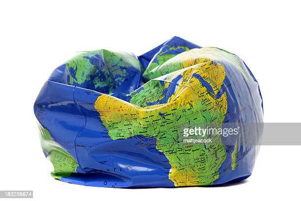 deflated earth - collapsing stock pictures, royalty-free photos & images