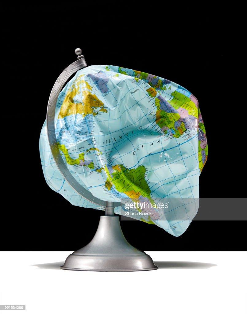Deflated Globe : Stock Photo