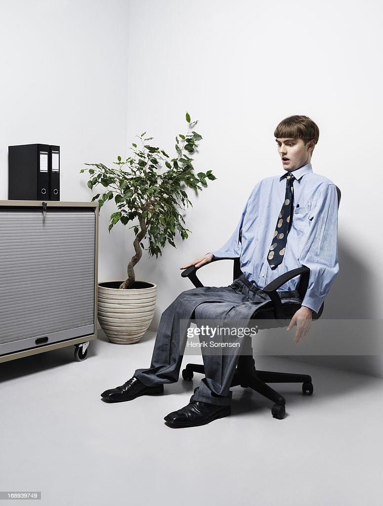 Deflated man : Stock Photo