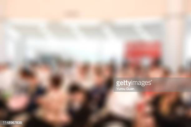 defocus backgrounds of forum or meeting scene in trade show, zhongshan,guangdong,china. - 広東省 ストックフォトと画像