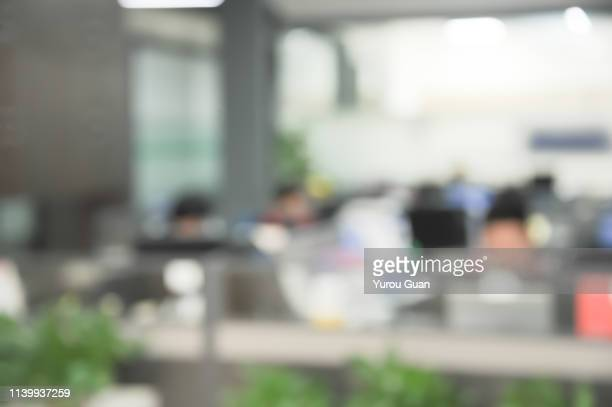 defocus effect of modern business office background,zhongshan,guangdong,china. - immagine mossa foto e immagini stock