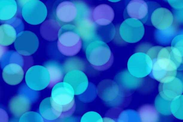 Defocused blue lights