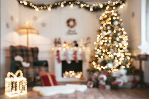 Defocused bright christmas room 1072185044