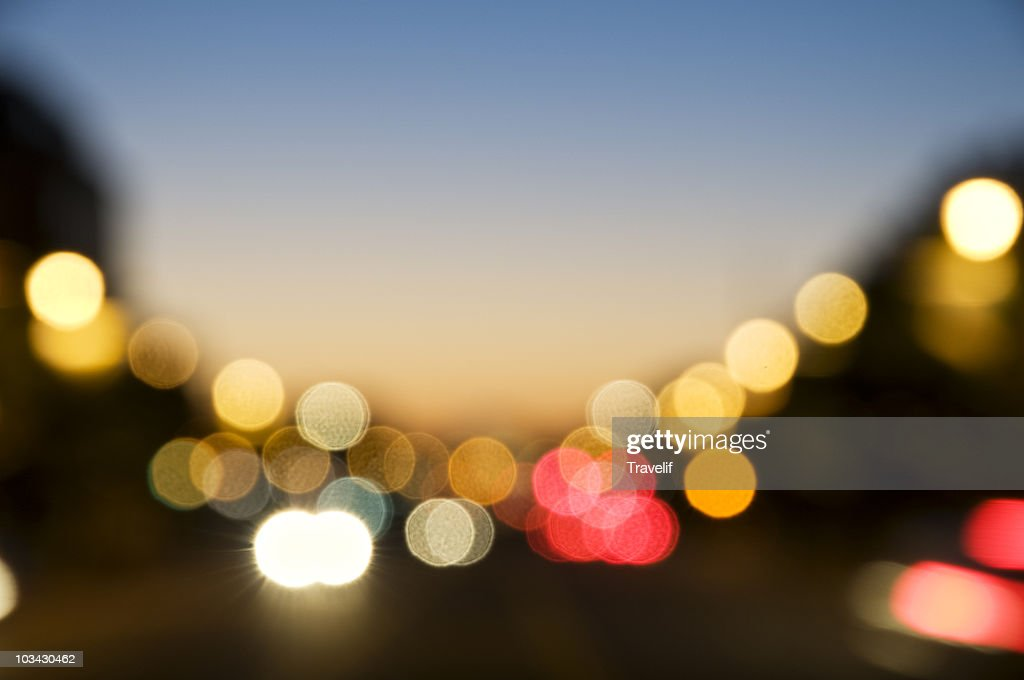 Defocused city lights : Foto stock