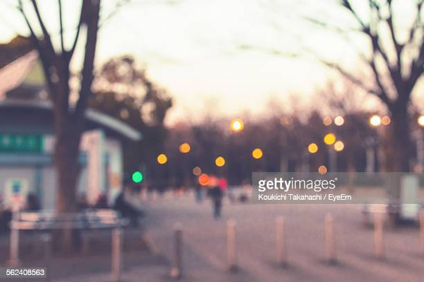 Defocused City Street