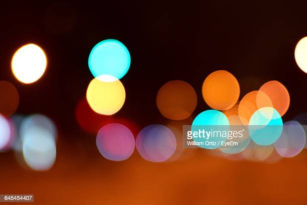 Defocused Colorful Lights At Night