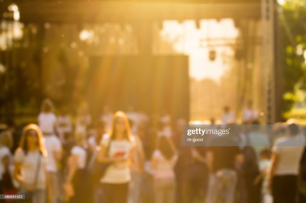 De-focused concert crowd. : Stock Photo
