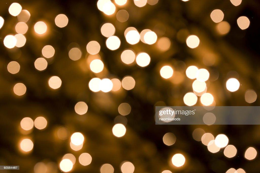 Defocused ouro luzes : Foto de stock