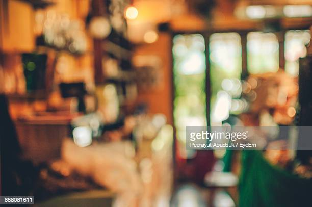 Defocused Image Of Cafe