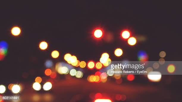 defocused image of colorful illuminated lights - howard,_wisconsin stock pictures, royalty-free photos & images