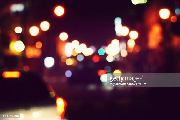 Defocused Image Of Illuminated City