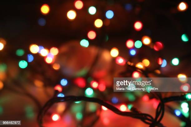 Defocused Image Of Illuminated String Lights