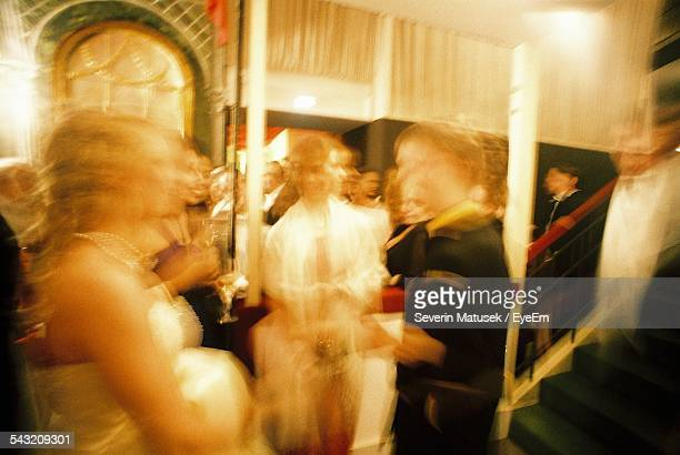 Defocused Image Of People At Ball