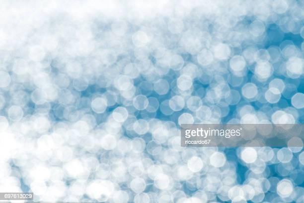 Defocused Image Of Snowflakes