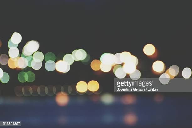 Defocused Image Of Street Lights
