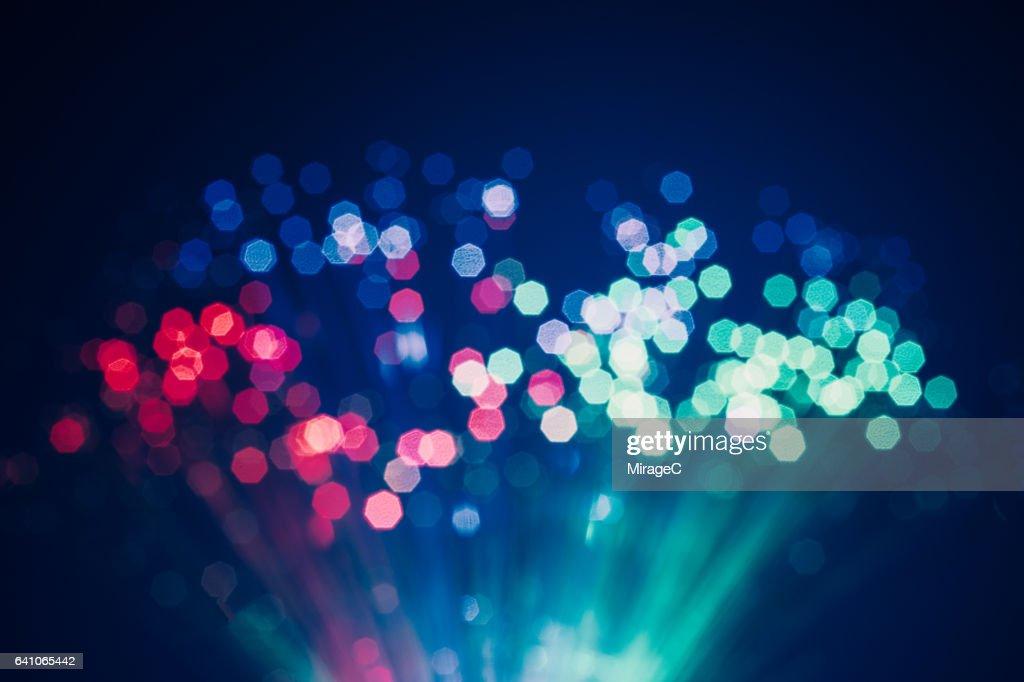 Defocused Light of Fiber Optics : Stock Photo