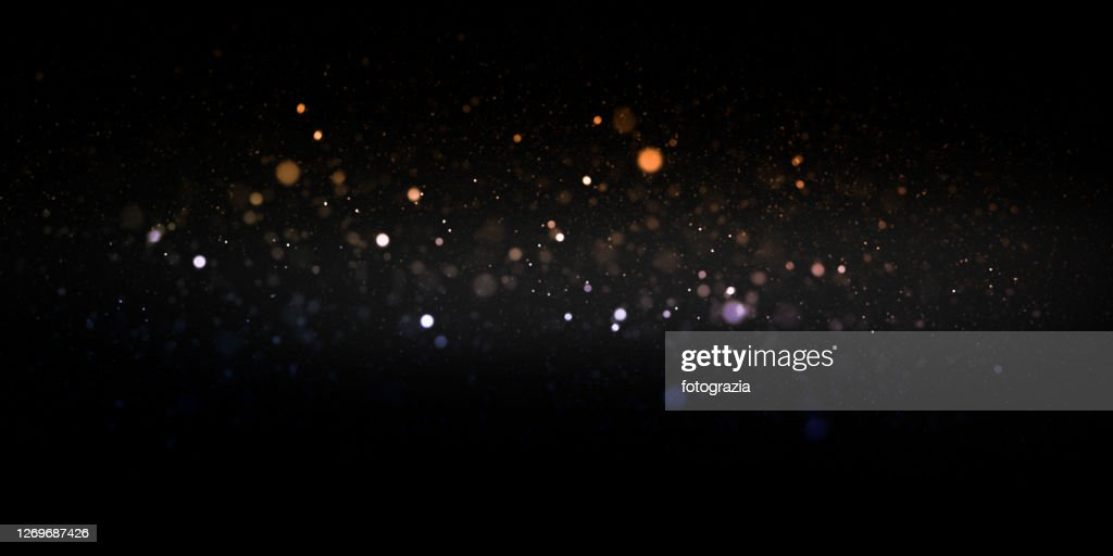 Defocused Lights and Dust Particles : Stockfoto