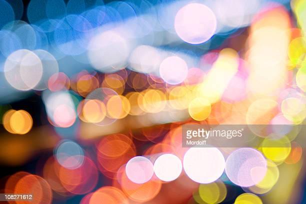 Defocused lights different color