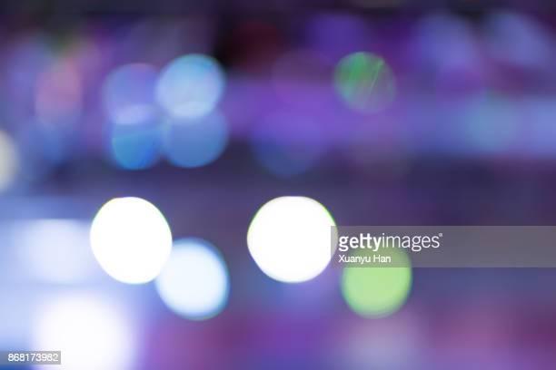 Defocused Lights of Cityscape Bokeh