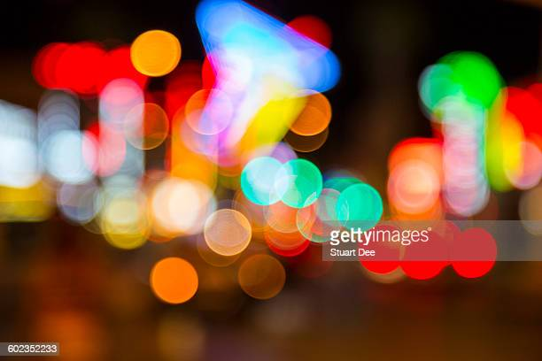 defocused lights - fremont street las vegas stock pictures, royalty-free photos & images