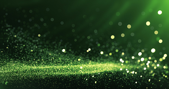 Defocused Particles Background (Green) 1151621651
