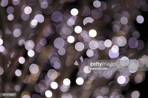 defocused purple light dots