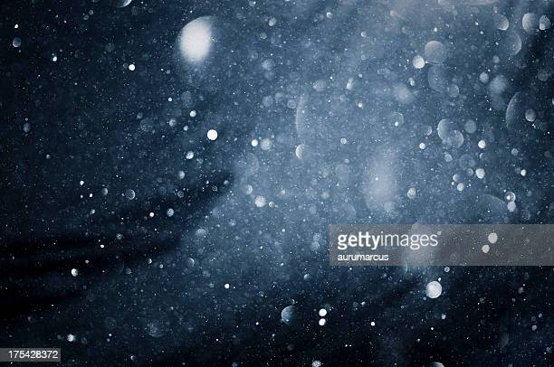 Unscharf Schneeflocken