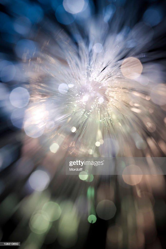 Desfocado luzes de brilho de Fibra Óptica : Foto de stock