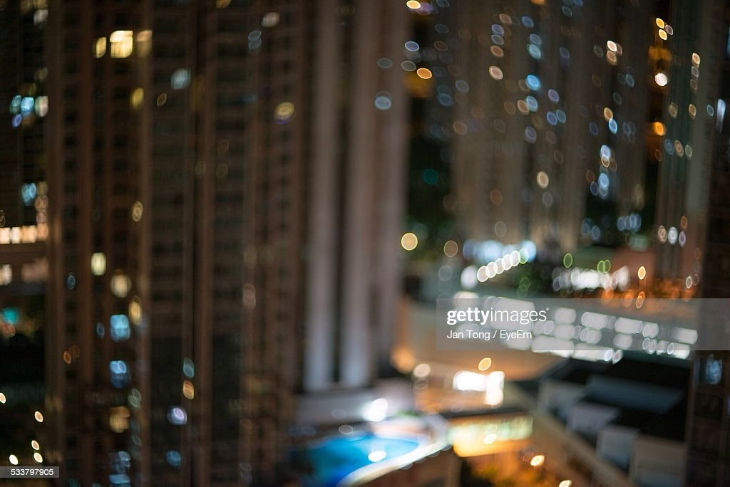 Defocused Spots Light Pattern In City : Foto stock