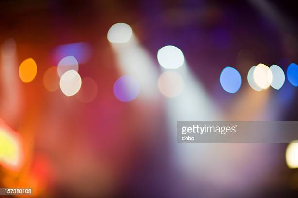 defocused stage lights - stage light stock pictures, royalty-free photos & images