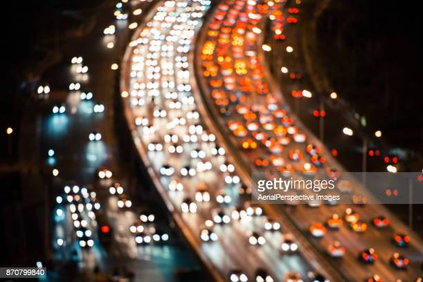 Defocused View Of Crowded Traffic in Beijing