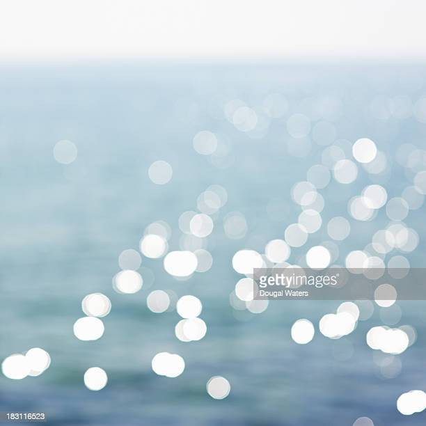 Defocused view of sea