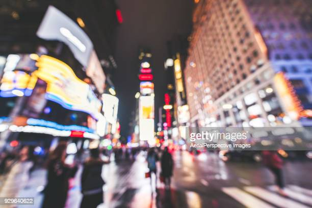 Defocused View of Times Square, Manhattan, NYC